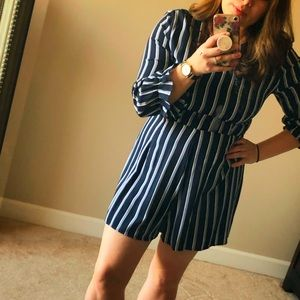 Dresses & Skirts - New Striped Navy Romper